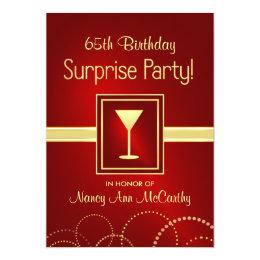 65th Birthday Invitations Announcements Zazzle