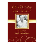 "65th Birthday Surprise Party - Photo Optional 5"" X 7"" Invitation Card"