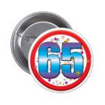65th Birthday v2 2 Inch Round Button