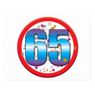 65th Birthday v2 Postcard