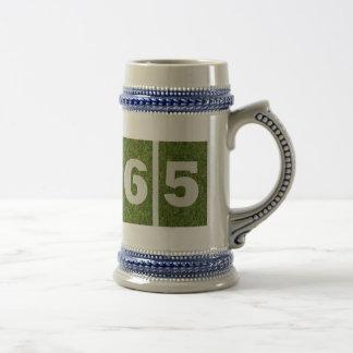 65th Birthday Yard Fooball Birthday Glass Stein