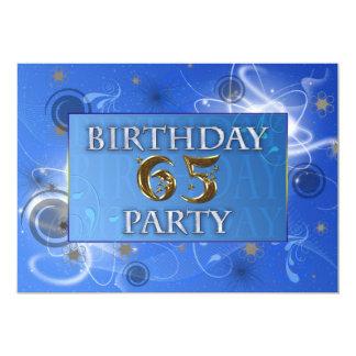 65th Cosmic party invitation