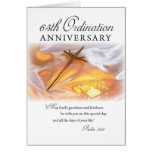 65th Ordination Anniversary, Cross Candle Greeting Card