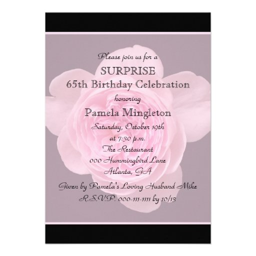 65Th Birthday Invitations correctly perfect ideas for your invitation layout