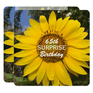 65th Surprise Birthday Party Sunflower Invitation