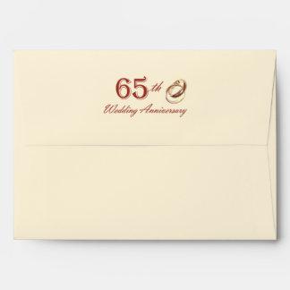65th Wedding Anniversary Customizable Envelopes