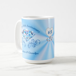 65th Wedding Anniversary Gifts for Grandparents Coffee Mug