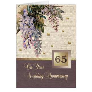 65th Wedding Anniversary Greeting Cards