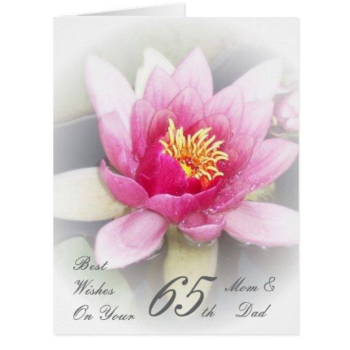 Th wedding anniversary mom dad water lily card zazzle