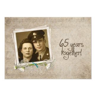65th Wedding Anniversary Open House Card