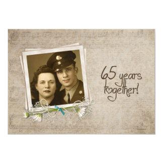 65th Wedding Anniversary Open House 5x7 Paper Invitation Card