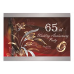 "65th Wedding Anniversary Party Invitations 5"" X 7"" Invitation Card"