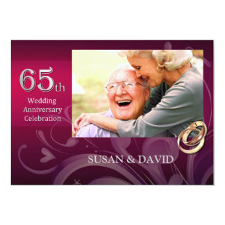 65th Wedding Anniversary Party Invitations