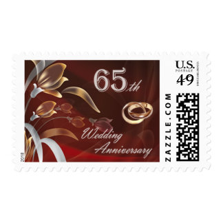 65th Wedding Anniversary Postage Stamps Postage