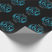 65th Wedding ANNIVERSARY SAPPHIRE Wrapping Paper