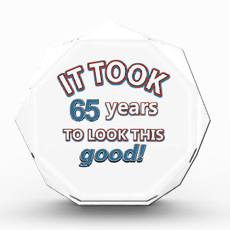65th year birthday designs award