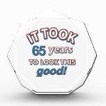 65th year birthday designs awards