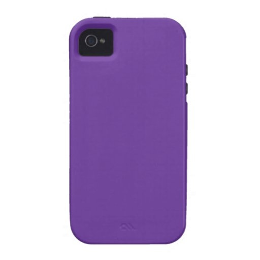 663399 Solid Color Purple Background Template Case-Mate iPhone 4 Cases