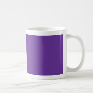 663399 Solid Color Purple Background Template Classic White Coffee Mug