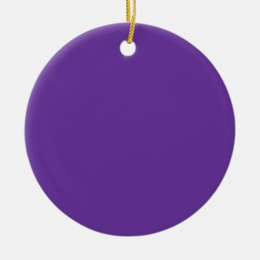 663399 Solid Color Purple Background Template Double-Sided Ceramic Round Christmas Ornament