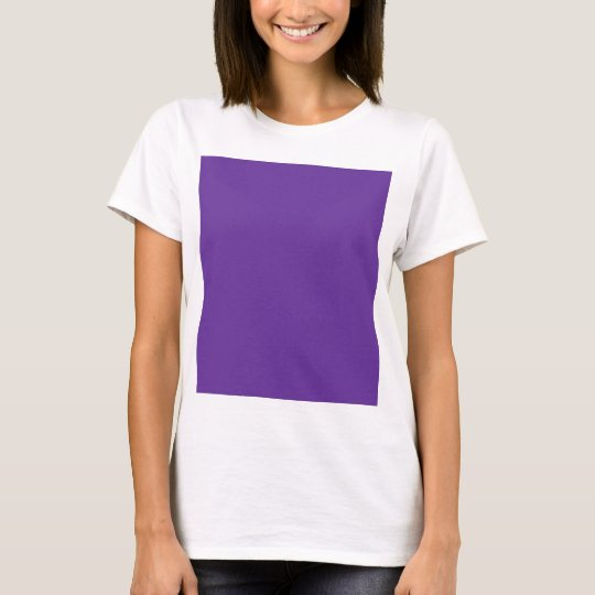 663399 Solid Color Purple Background Template T-Shirt