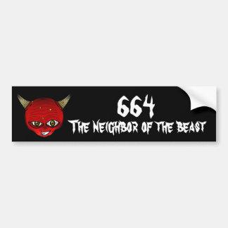 664 el vecino de la bestia pegatina para auto