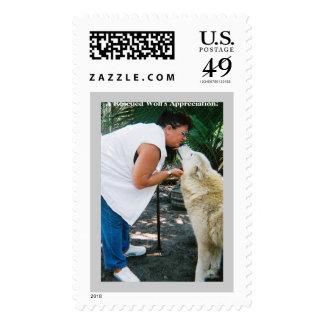 6663260-R1-038-17A, A Rescued Wolf's Appreciation! Postage Stamps