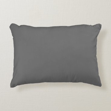 Professional Business #666666 Hex Code Web Color Dark Grey Gray Accent Pillow
