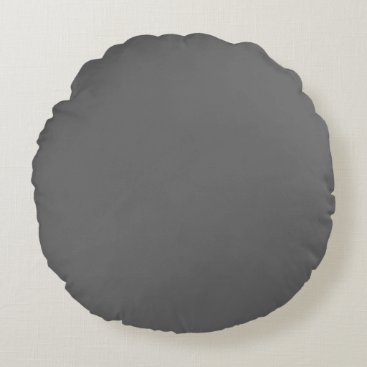 Professional Business #666666 Hex Code Web Color Dark Grey Gray Round Pillow