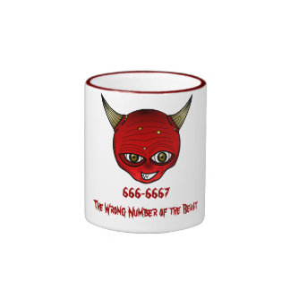 666-6667 The Wrong Number of the Beast Coffee Mugs
