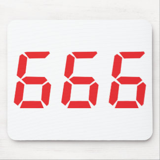 666 alarm clock numbers mouse pad