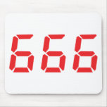 666 alarm clock numbers mouse pads