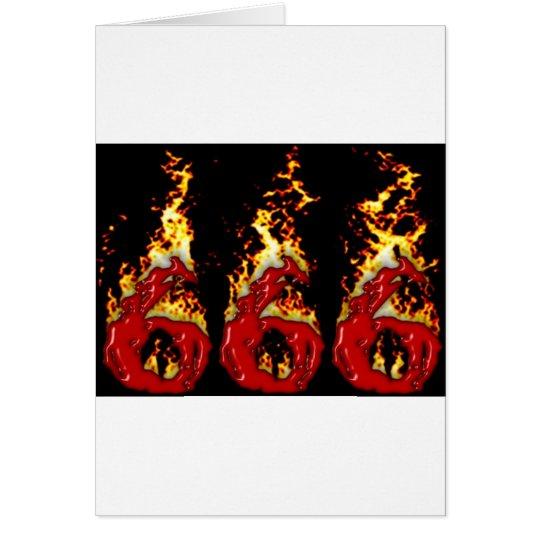 666 Blood & Fire Card