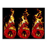666 Blood & Fire Post Cards