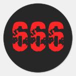 666 CLASSIC ROUND STICKER