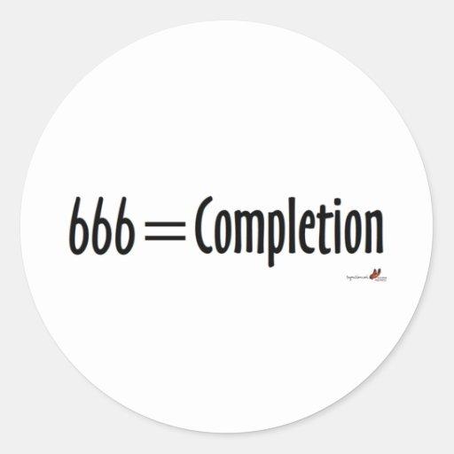 666=Completion Pegatina Redonda
