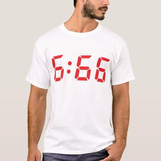 666 devil alarm clock T-Shirt