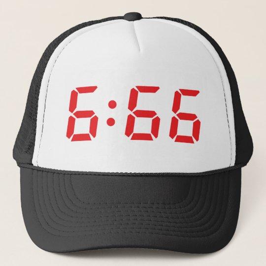 666 devil alarm clock trucker hat