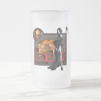 666 - Frosted Glass Stein Coffee Mugs