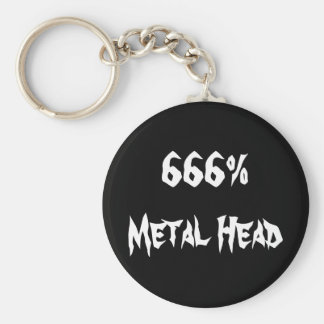 666%Metal Head Keychain