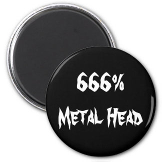666%Metal Head Magnet