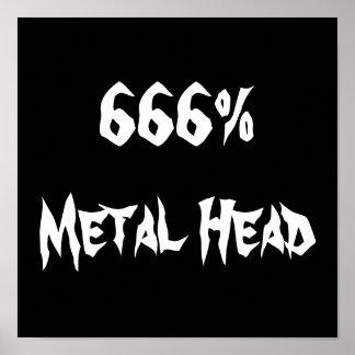 666%Metal Head Poster