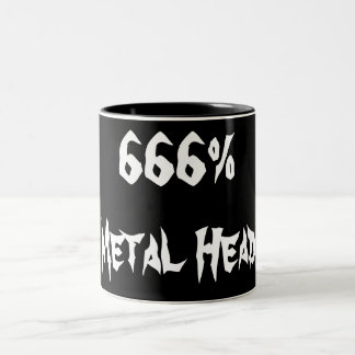 666%Metal Head Two-Tone Coffee Mug
