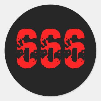666 PEGATINA REDONDA
