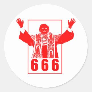 666 Pope Classic Round Sticker