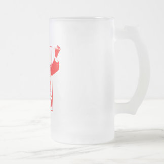 666 Pope Frosted Glass Beer Mug
