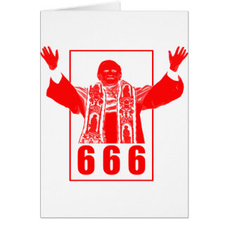 666 Pope Greeting Card