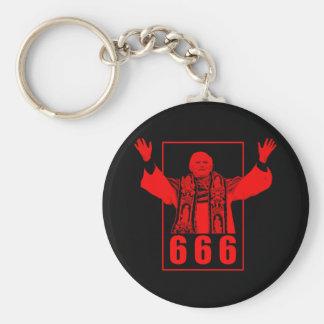 666 Pope Keychain