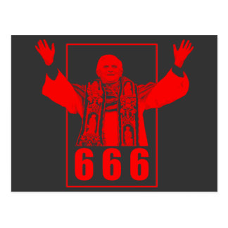 666 Pope Postcard