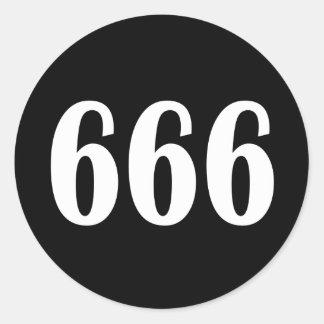 666 ROUND STICKERS